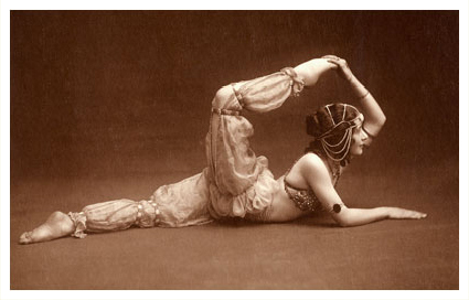 Antique Picture of Contortionist